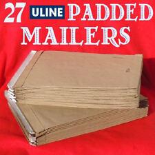 "27 Uline Kraft Self-Seal Padded Mailers Envelopes #6 S-21314 12½""x17¾"" - New"