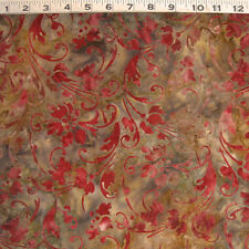 "C1061-03B MODA ""Bon Voyage"" Rose Floral on Varigated Gold Batik by the Yard"