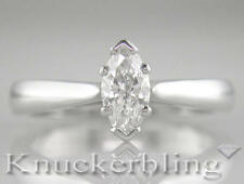 Diamond Solitaire Platinum Engagement Marquise Ring 0.70ct Certificated D IF VG