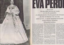 COUPURE DE PRESSE CLIPPING 1971 EVA PERON (4 pages)