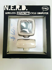 Knog NERD 12 Bicycle Wireless Computer White 12 Functions NO TOOL Install !!