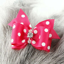 Cat Dog Hair Accessories Hair Bow Pink Dog Clothes Summer Spring/Fall Bowknot