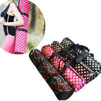 1 x Nice Portable Pilates Sport Exercise Bag Holder Yoga Mat Pocket Random