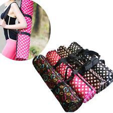 1 x Nice Portable Pilates Sport Exercise Bag Holder Yoga Mat Pocket Random