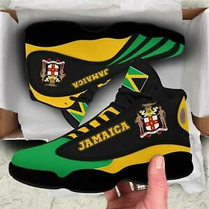 Jamaica  Air JD13 Sneaker, black Shoes Full Size 5-15