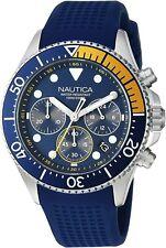 Nautica Westport  Men WatchChronograph Blue Silicone 44mm Watch NAPWPC002