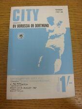 11/08/1967 Manchester City V Borussia Dortmund [freundliche] (Token entfernt, Partitur