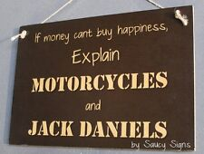 Motorcycles and Jack Daniels Sign - Biker Bar Garage Man Cave Hunting Harley