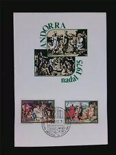 Andorra MK 1975 Nadal NATALE CHRISTMAS maximum scheda MAXIMUM CARD MC c5704