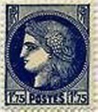 """FRANCE STAMP TIMBRE  N° 372 """"TYPE CERES 1 F 75 BLEU """" NEUF x TB"""