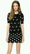 Alice + Olivia All Over Bow Sweater Black Wool Top Nkit Size S NWOT