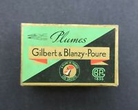 Boite plume BLANZY CONTE GILBERT TRERAID 1802 1mm pen nibs box pennini