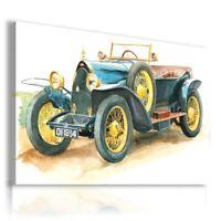 BUGATTI DRAWING CARS VINTAGE PRINT Canvas Wall Art R58 MATAGA UNFRAMED-ROLLED
