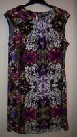 Wallis, Ladies, Size M, Floral Black Mix Tunic/Dress