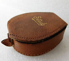 Vintage English leather stud box in good condition 1920s 1930s 1940s