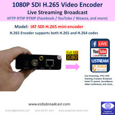 Portable SDI 1080P Mini H.265 encoder RTMP to Facebook YouTube 4 live streaming