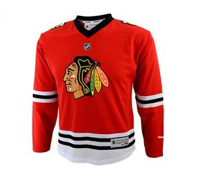 Reebok NHL Youth Girls Chicago Blackhawks Blank Jersey, Red