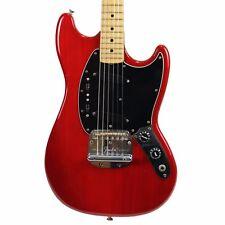 Vintage 1979 Fender Mustang Electric Guitar Transparent Red