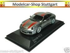 Porsche 911 R plata/rayas rojas Limited Edition 504 trozo Minichamps 1:43