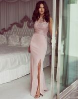 Lipsy Michelle Keegan pink lace sequin maxi dress size 16 brand new tags RRP £75