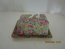 """vtg Butter Keeper """"Briar Rose"""" Chintz Lord Nelson Ware England"""