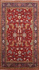 Traditional Geometric Indo Heriz Oriental Area Rug Hand-knotted Wool Carpet 5x8