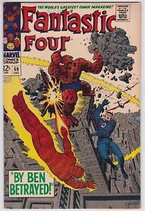 Fantastic Four #69 VF 8.0 The Mad Thinker Stan Lee Jack Kirby Art!