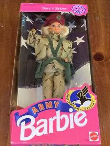 Barbie Doll Stars 'n Stripes Army Special Edition Career Mattel #1234 1992 NEW