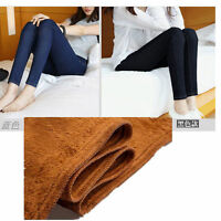 Womens Jeggings Trousers Warm Fleece Lined Stretch Denim Jeans Thermal Leggings