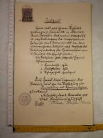 altes Zeugnis Prüfung Lehrer 1920 Münster Stempelmarke Preussen 3 Mark