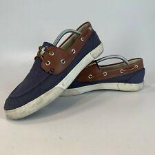 Ralph Lauren POLO Blue Canvas Deck Shoes Size UK 10 EU 44