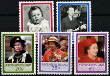 Ascension 1986 SG#397-401 QEII 60th Birthday MNH Set #D35991