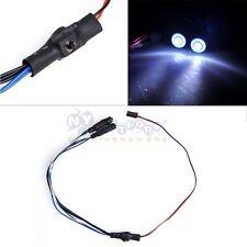 2 Leds Angel & Demon Eyes LED Headlight Back Light for 1/10 RC Car blue+white US