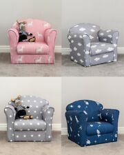 Kids Children's Chair Armchair Sofa Seat Fabric Upholstered Bedroom Playroom