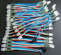 100PCS WS2801 RGB Full Color 12mm Pixels Addressable Digital LED String DC 5V