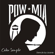 "STENCIL 5"" tal Not Forgotten War Soldier MIA POW Wire Star Prison Camp Hero Sign"