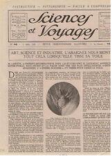 SCIENCES ET VOYAGES 1920 L'ARAIGNEE BOHEMIENS DEMARREUR AUTO ELEPHANTS DE MER
