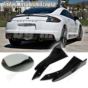 Fit For Mitsubishi Eclipse Reaer Bumper Lip Splitter Spoiler Canard Apron Carbon