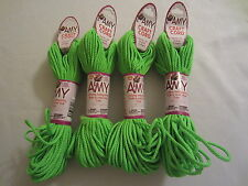 Lot of 4 rolls 2mm Neon Green Amy Braid Nylon Macrame Craft Jewelry Cord 100yds