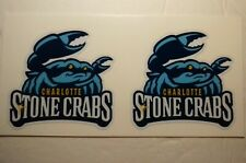 "(2) Charlotte Stone Crabs (2.5"") Diy Stickers Decals Great for Yeti"