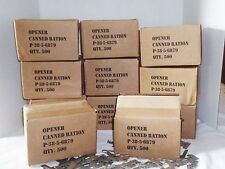 P38 Can Opener 100 Piece High Carbon Steel Military Issue Made US Shelby Company