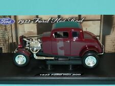 Motor Max 1/18 1932 Ford Hot Rod Burgundy Metallic MIB