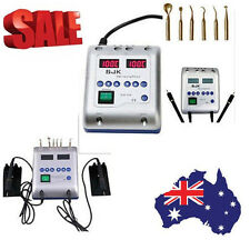Dental Electric Wax Waxer Carving Knife Machine Double Pen+6 Wax Tips from AU