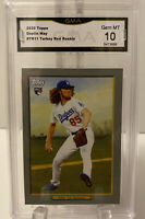 2020 Topps Turkey Red Dustin May RC, #TR-11 Los Angeles Dodgers GMA Gen Mint 10
