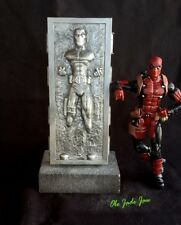 NEW Custom DEADPOOL 2 CARBONITE Marvel Legends Star Wars Black  SDCC Han Solo