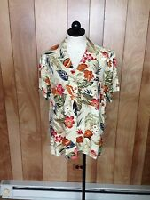 WOMEN'S ALFRED DUNNER FLORAL BUTTON-DOWN TOP-SIZE: 12
