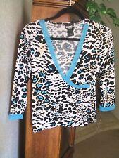"Women's ""Baranda "" size PM, 3/4 sleeve top, Animal print wrap NWT!   MSRP $44"