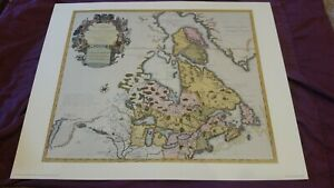 Canada and the Great Lakes by Guillaume De L'isle 1720 Penn Prints reproduction