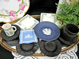 WEDGWOOD mixed lot of 10 queensware and Jasperware pieces England