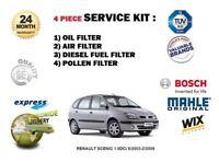 pour Renault Scenic 1.9 DCI 6/2003-2/2009 Filtre à Pollen Huile Air carburant